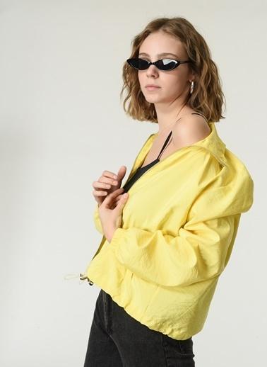 NGSTYLE Kadın Fermuarlı  Ceket NGKSS21CK0004 Sarı
